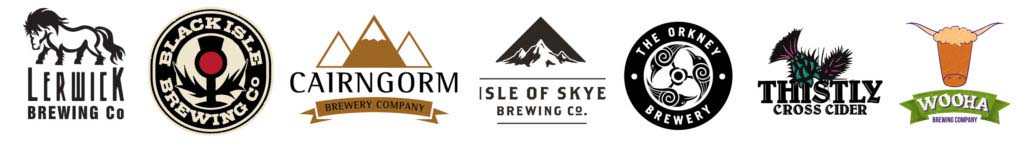 Craft Beers - Lerwick, Black Isle, Cairngorm, Isle of Skye, Orkney, Thistly Cross, Wooha Brewing Company